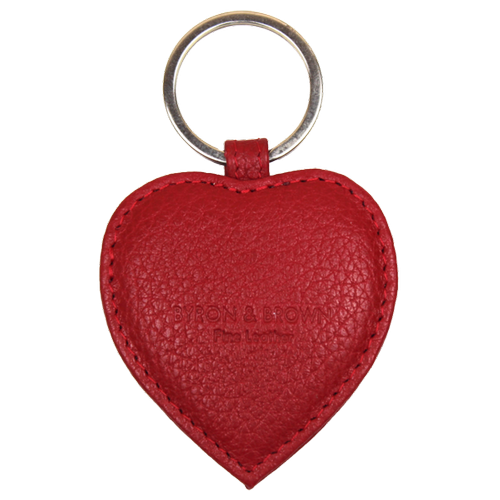 Key Ring Heart Shaped  - Red